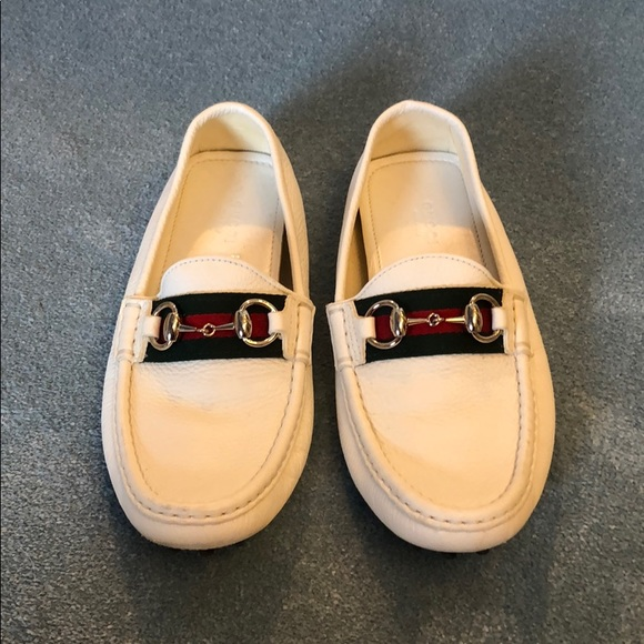 ever popular differently fast delivery White Gucci Horsebit Loafers